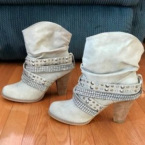 Not Rated Brand Studded Crystal Boots NWOT